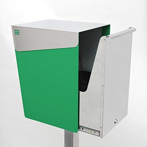 KATANABOX ''Mega'' - Stainless Steel Post-Mount Modern Design Mailbox, Lockable (Red) by KATANABOX (Image #3)