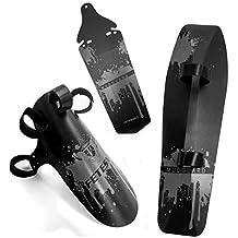 Adjustable MTB Bike Fender, Front/Rear/Downtube Mud Guards, Bicycle Mudguards Set