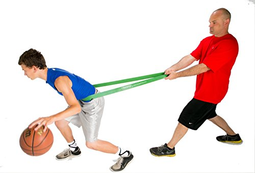 HoopsKing (TM) P.R.O. Bands for Basketball Resistance Bands Training (SINGLE Band - 4 Levels to Choose From | Mix & Match as Needed) | Perfect For Improving Dribble Explosiveness, Vertical Jump, Later