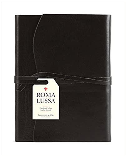 Roma Lussa Leather Journal Black