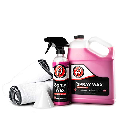 Adam's Spray Wax – Carnauba Infused Quick Detailer Spray Polish with The Most Advanced Formula on The Market for Ultimate Protection, High Gloss & A Streak Free Finish (Collection)