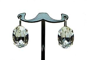 TF ovalados, sencilla gótico-gancho para la oreja Colour Blanco, latón