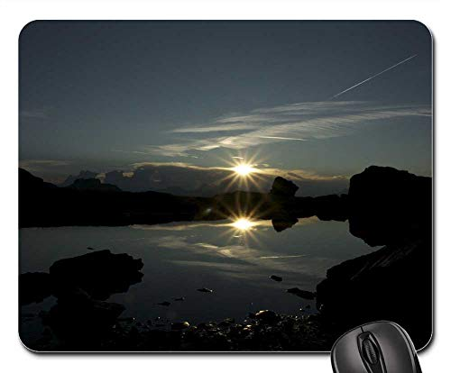 Mouse Pads - Blue Hour Sunset Water