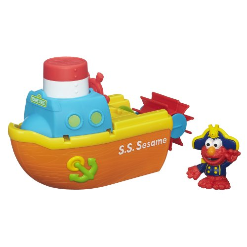 stem toys for 4 year old Playskool Sesame Street Elmo Bath Adventure Steamboat Toy