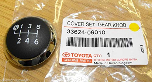 Genuine Toyota Avensis 2009> 6 Speed Gear Knob Chrome Top 33624-09010