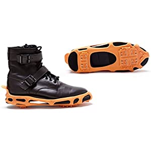 Power Ice Cleats - Perfectly Fit to Shoes and Boots for Safe Activities in Winter, Outdoor or Slippery Terrain (Black Color)