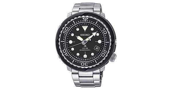Amazon.com: RELOJ SEIKO Solar Caballero PROSPEX SNE497P1 Diver´s 200 Metros Acero: Watches