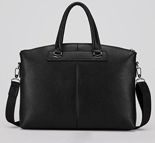 Briefcase Shoulder Handbag Leisure Section Horizontal Business Men Large Capacity Black Bag pY4qwTXU
