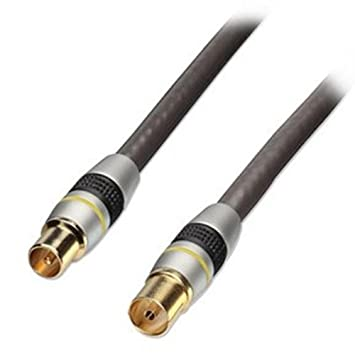 Lindy 37873 – Cable coaxial Premium de extensión para antena UHF, RF, macho a