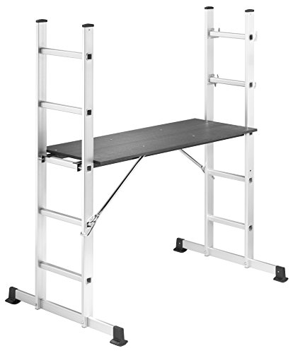 Hailo 1055-001 ProfiStep multi Aluminium Gerüst und Leiter