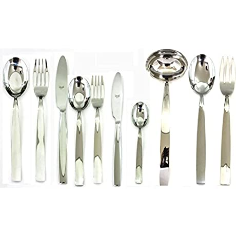 Mepra 100422087 87 Piece Mediterranea Cutlery Set Stainless Steel