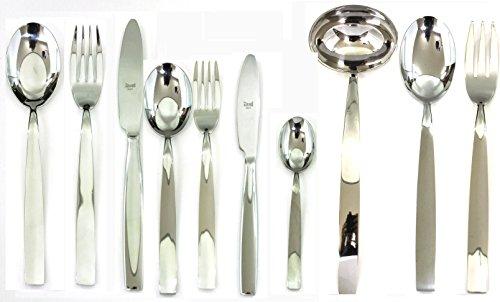 Mepra 100422087 87 Piece Mediterranea Cutlery Set, Stainless Steel by MEPRA