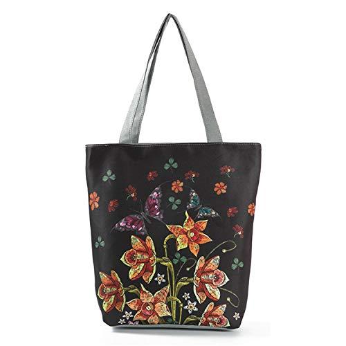 De Sunonip Imprimé Femme Bandoulière À Pour Grande En Size Floral Sac Capacité 3 Capacité Toile RxHUqpw