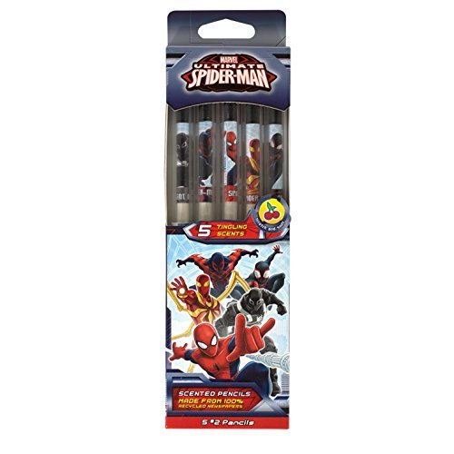 Marvel Spider-Man Smencils 5-Pack of HB 2 Scented Pencilsの商品画像