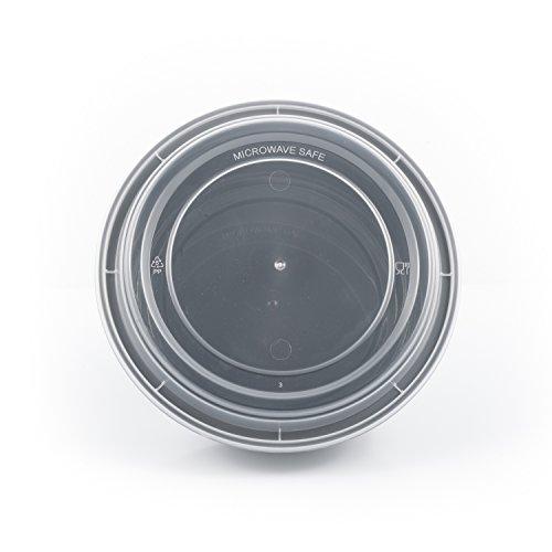 Farada, 50 Sets, Meal Prep Containers, Reusable Disposable, Food Containers, Meal Prep Bowls, Plastic Containers, Plastic Food Storage Containers, w/Lids, Microwave/Dishwasher/Freezer Safe (48 oz)