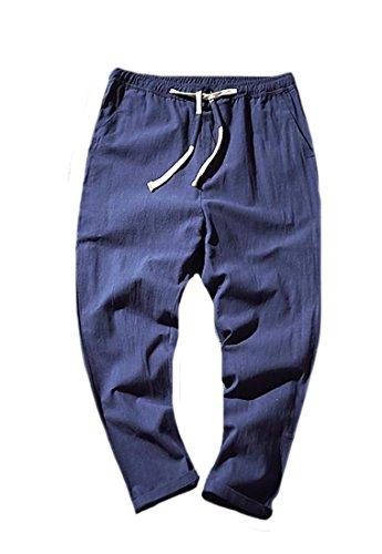 Linen Blend Bootcut Pants - 7