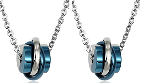Daesar His & His Necklace Set Couples Stainless Steel Rings & Cube - Returns Uk Urban Outfitters