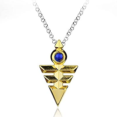 Algol - Anime Jewelry Yugioh Cosplay Pyramid Egyptian Eye Of Horus Yu-Gi-Oh Necklace Yugioh Zexal Yuma Cosplay Necklace: Toys & Games