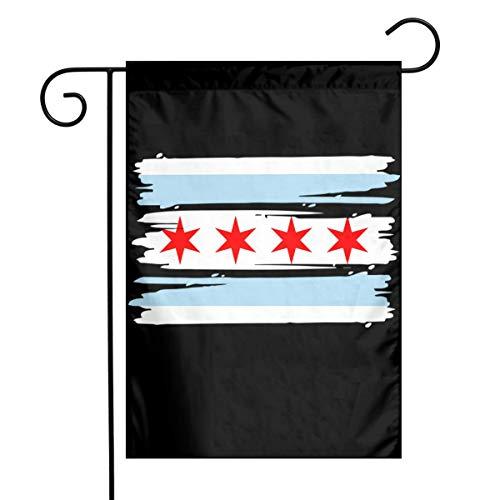 Chicago Flag Funny Home Backyard Decorative Flag Festival Garden Flag 12