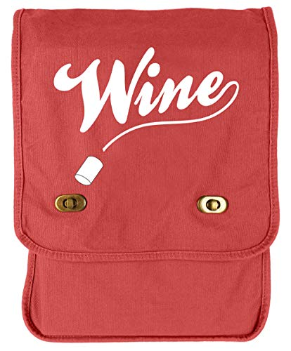 Tenacitee Wine Poppy Canvas Field Bag