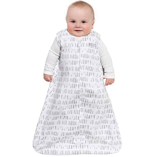 Halo Sleepsack Cotton Wearable Blanket, Squares and Triangles, Grey, X-Large by Halo (Image #1)