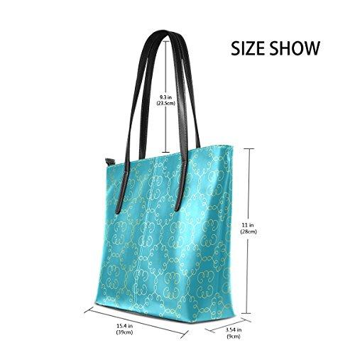 Women's Bags TIZORAX Handle Fashion Handbag PU Arabesque Totes Vignettes Leather Purses Top Shoulder OvwvEZSq6