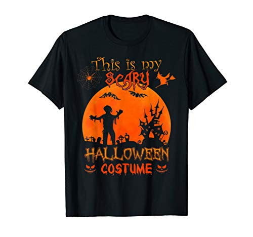 This is my Scary Halloween Costume - Pumpkin Witch Zombie T-Shirt