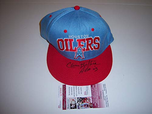 Elvin Bethea Houston Oilers HOF JSA Autographed Signed Hat - Certified Authentic
