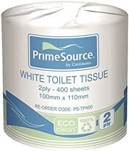 PRIMESOURCE Toilet Paper Rolls 2 PLY 400 Sheet Recycled