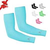 Cooling Arm Sleeves for Men & Women, Tattoo Cover up Sleeves to Cover Arms (1 pair), Cooling UV Protective Clothing, UPF 50 Long Sun Sleeves, Cycling Golf Running Driving, Stretch & Moisture Wicking