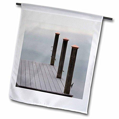 3dRose Danita Delimont - Lakes - USA, Tennessee. Watts Bar Lake. Glass calm reflects cloud patterns. - 12 x 18 inch Garden Flag - Glasses Reflect X