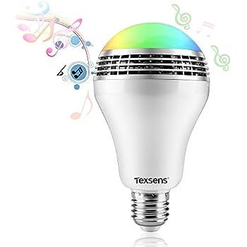 Texsens Smart LED Music Light Bulb - Light Flashes as Music Goes