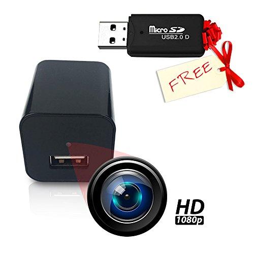 Spy Camera Charger Hidden Adapter Mini 1080p USB Charger Hidden Cam Home Security Camera Charger FULL HD