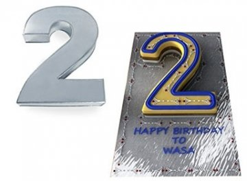 Small Number Two 2 Wedding Birthday Anniversary Cake Baking Pan / Tin 10