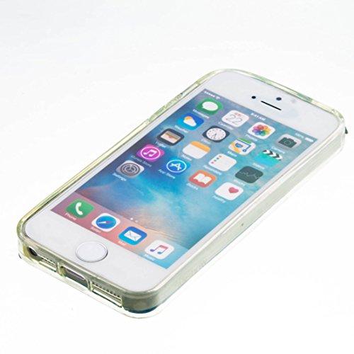 Für Apple iPhone 5 5G 5S / iPhone SE (4 Zoll) Hülle ZeWoo® TPU Schutzhülle Silikon Tasche Case Cover - GS133 / Lila Bär