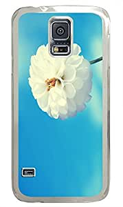 protective Samsung S5 cover Spring White Flower Best PC Transparent Custom Samsung Galaxy S5 Case Cover