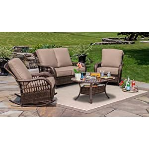 Berkley Jensen 4 Pc. Wicker Patio Set