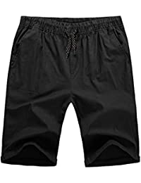 to Mens Flat Front Summer Shorts Casual Twill Classic Fit