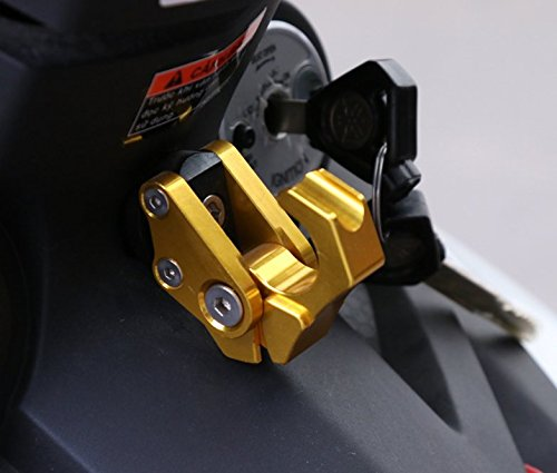 Motocicleta CNC aleación de aluminio casco bolsa Holder ...
