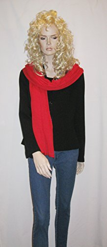 Cashmere Pashmina Group: Cashmere Scarf Shawl Stole Wrap (Sweater Knit Cashmere Shawl) Lipstick Red
