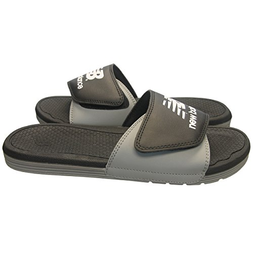New Balance Men's NB Pro Adjustable Slide Sandals, Black, 12 (Vinyl Slide)