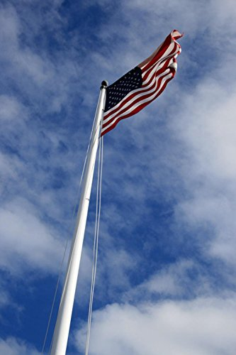 LAMINATED 24x36 inches Poster: Usa Flag Blue Sky National Wa
