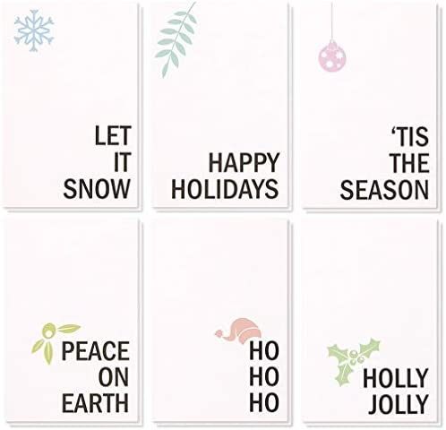 48 Pack Merry Christmas Greeting Cards product image