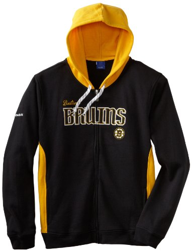 Boston Bruins Women's Mujeres Reebok NHL Core Full Zip Hooded Sweatshirt camisa