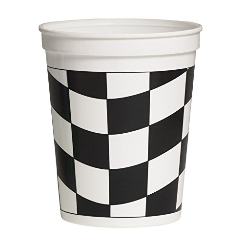 Black and White Check Racing Cups