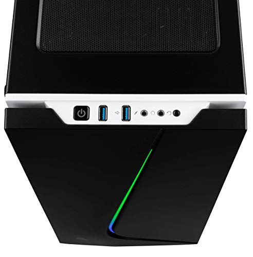 Corsair Carbide SPEC-06 RGB Mid-Tower ATX Gaming Case, Tempered Glass- Black