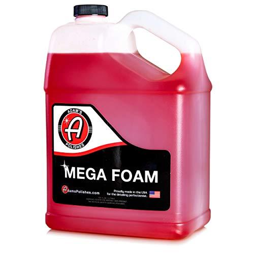Adam's Mega Foam Shampoo Gallon - pH Neutral Wash Soap Designed for Maximum Foam Suds in Your Bucket, Foam Cannon or Gun, Sponge, Mitt, Chamois - Won't Strip Or Remove Wax Sealant or Ceramic Coating (Gallon Foam Soap)