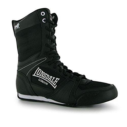 Sport Lacets De Noir Chaussures Contender Boxe Bottes Blanc Femmes Lonsdale Pour 0wnAOUSxB