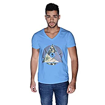 Creo Nyc Liberty T-Shirt For Men - M, Blue