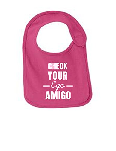 - Check Your Ego Funny Infant Jersey Bib Sangria One Size